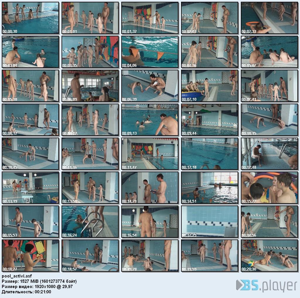 Nudism poolside Pure
