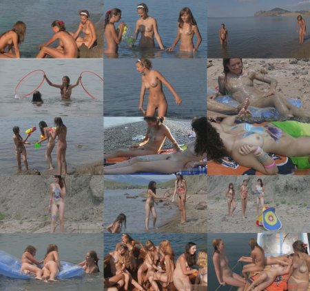 Body Art Nudist Beach Part 2/ Боди арт на пляже 2