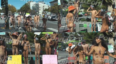 Nude in Body Freedom Parade in San Francisco on September 26th, 2015
