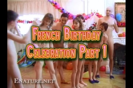 French Birthday Party Part 1 (Enature.net. RussianBare.com) (NaturismV.com)