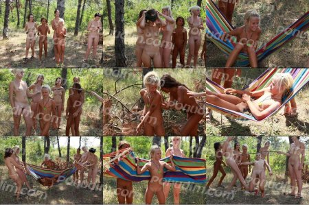 Pine Tree Forest (family nudism, family naturism, young naturism, naked boys, naked girls)