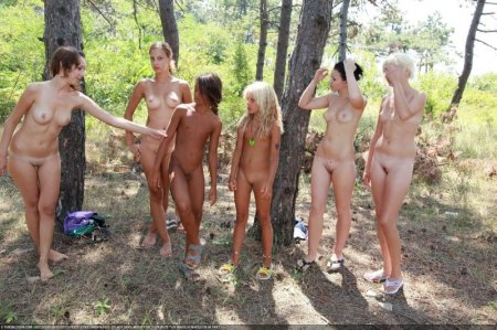 Pine Tree Forest (family nudism, young naturism, naked boys, naked girls)