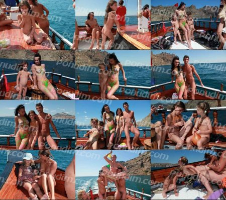 Bodypaint And Boats  (family nudism, young naturism, Purenudism, naked boys, naked girls)