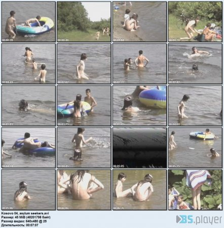 Kosovo 04, asylum seekers (family nudism, family naturism, young naturism, naked boys, naked girls)