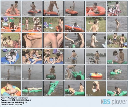 Kosovo 17, asylum seekers (family nudism, young naturism, naked boys, naked girls)