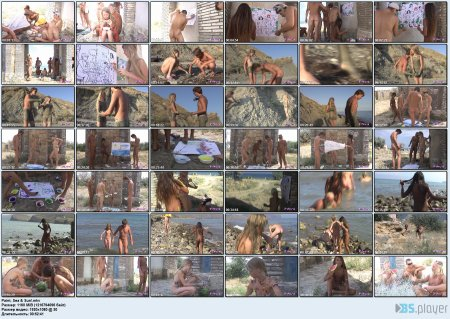 Paint, Sea & Sun! HD (family naturism, family nudism, naked girls, naked gymnastics)