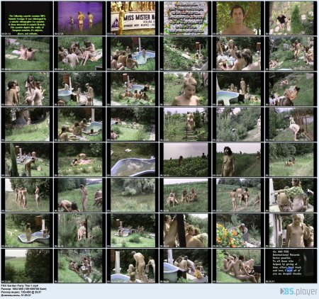 FKK Garden Party Titel 1  (family nudism, family naturism, young naturism, naked boys, naked girls)