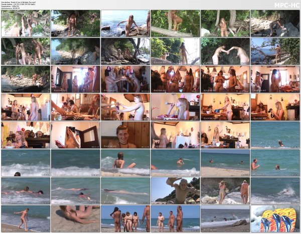 Shade & Sun & Birthday Fun HD (family nudism, family naturism, young naturism, naked girls, naked boys)