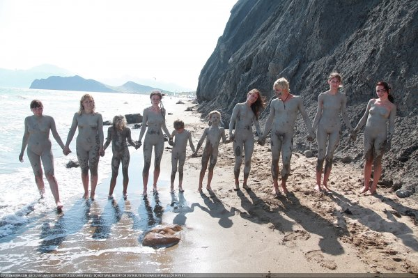 Day Of The Mud (family nudism, family naturism, young naturism, naked boys, naked girls)