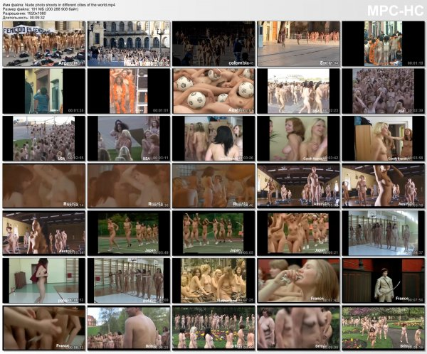 Nude photo shoots in different cities of the world