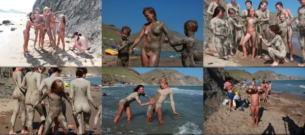 Day Of The Mud 3 (family nudism, family naturism, young naturism, naked boys, naked girls)