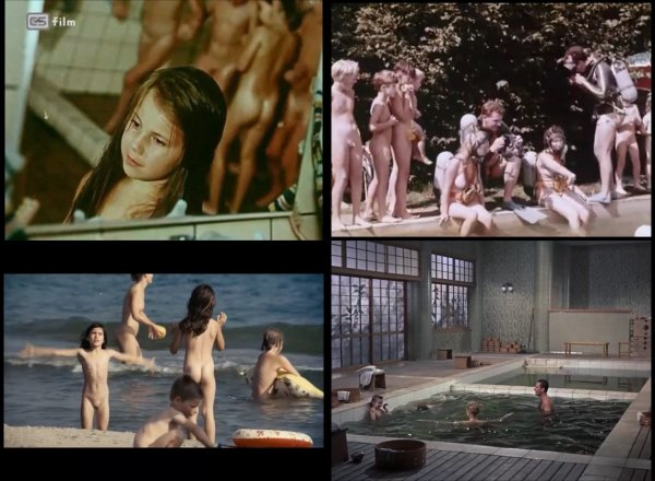 Сollection of fragments #44 (young naturism, naked boys, naked girls)