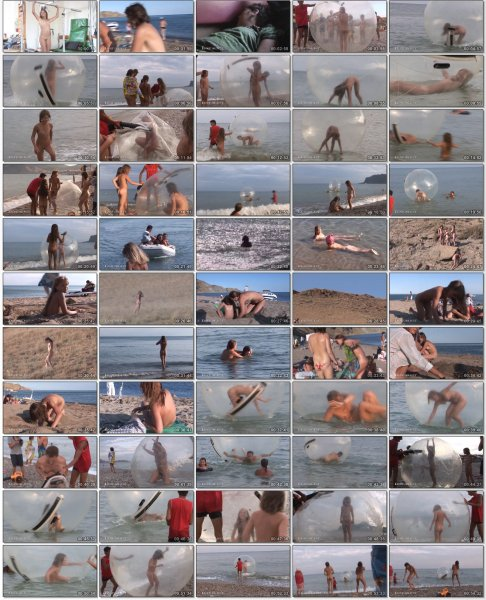 Lets All Have A Naked Ball HD (family nudism, family naturism, young naturism, naked girls, naked boys)