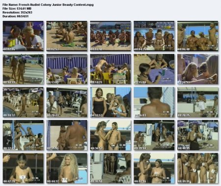 French Nudist Colony Junior Beauty Contest