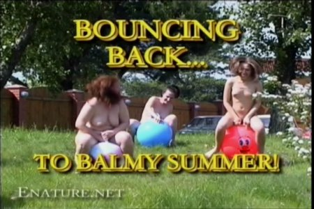 Bouncing Back to Balmy Summer (family nudism, family naturism, young naturism, naked boys, naked girls)