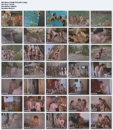 Family Portraits (family nudism, family naturism, young naturism, naked boys, naked girls)