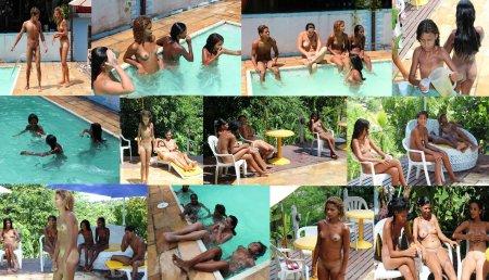 Naturism in Brazil. Pool.