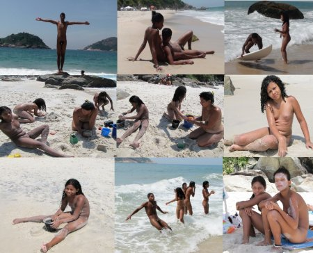 Naturism in Brazil. On the beach.