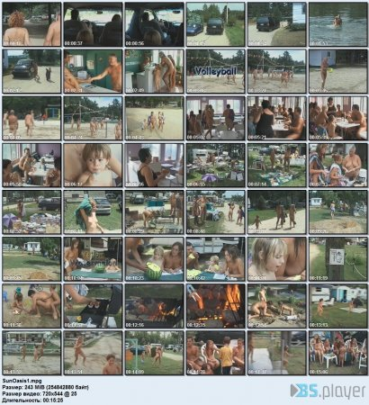 Sun Oasis 1 (family nudism, family naturism, young naturism, naked girls, naked boys)