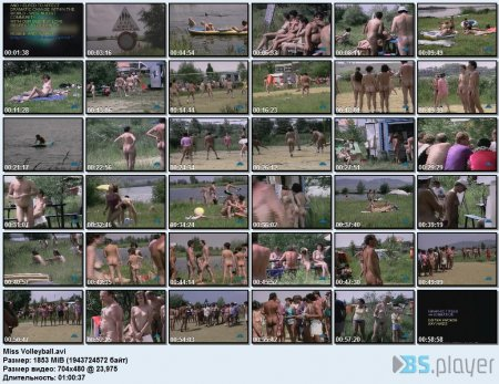 Miss Volleyball (family nudism, family naturism, young naturism, naked boys)