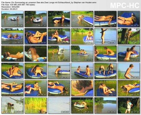 Ein Sommertag an unserem See aka Zwei Jungs mit Schlauchboot