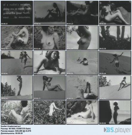 Nudist Unadorned (retro naturism, family nudism)