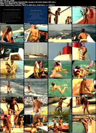 Zu Lande und auf dem Wasser_On the Land and in the Water 1  (family nudism, young naturism, naked boys, nude beach)
