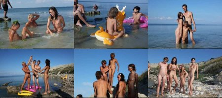 Early Morning Swim 3 (family nudism, young naturism, naked boys, naked girls)