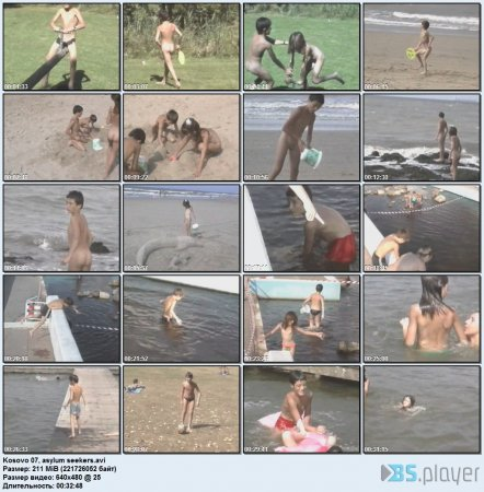 Kosovo 07, asylum seekers (family nudism, young naturism, naked boys, naked girls)