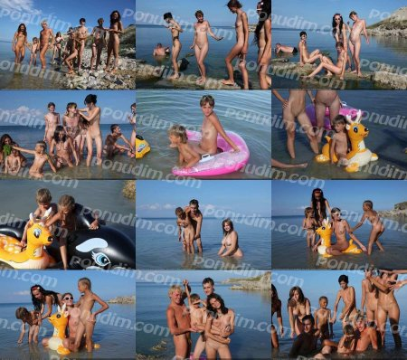 Early Morning Swim 4 (family nudism, young naturism, naked boys, naked girls)