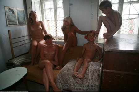 Tour a Village Home (family nudism, young naturism, naked boys, naked girls)