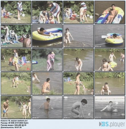 Kosovo 18, asylum seekers (family nudism, young naturism, naked boys, naked girls)