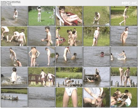 Kosovo 13, asylum seekers (family nudism, young naturism, naked boys, naked girls)