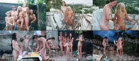 Construction Site 8 (family naturism, family nudism, young naturism, naked boys, naked girls)