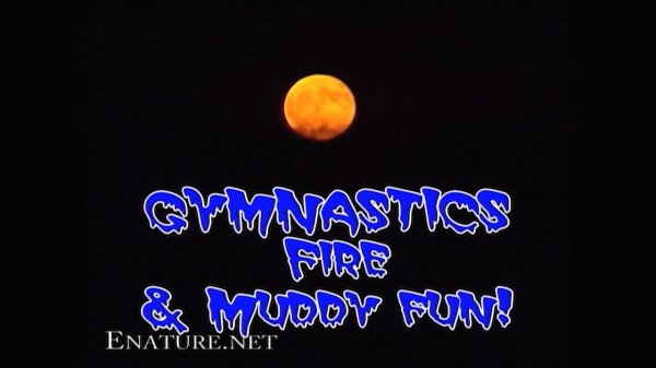 Gymnastics Fire & Muddy Fun HD (family nudism, family naturism, young naturism, naked girls, naked boys)