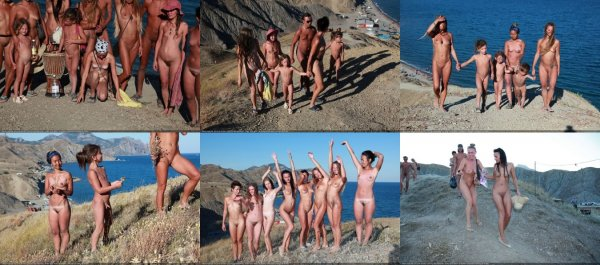 Steep Climb 5 (family nudism, family naturism, young naturism, naked boys, naked girls)