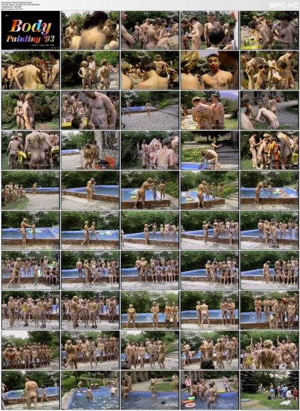 Body Painting '93 (family nudism, family naturism, young naturism, naked girls, naked boys)