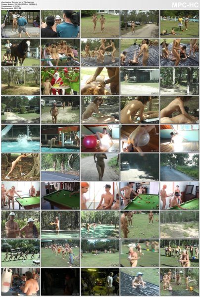 Running out of Clothes  (family nudism, family naturism, young naturism, naked girls, naked boys)