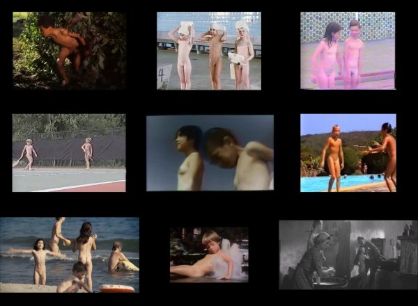 Сollection of fragments #25 (young naturism, naked boys, naked girls)