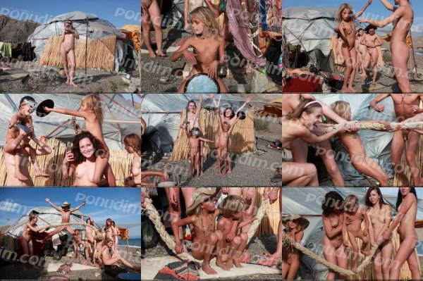 The Hut-1 (family nudism, family naturism, young naturism, naked boys, naked girls)