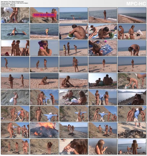 Fiery Beach Dreams HD (family nudism, family naturism, young naturism, naked girls, naked boys)