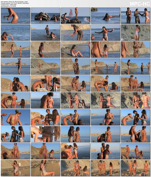 Воdy Аrt, Mud & Gаmеs 1 HD (family nudism, family naturism, young naturism, naked girls)