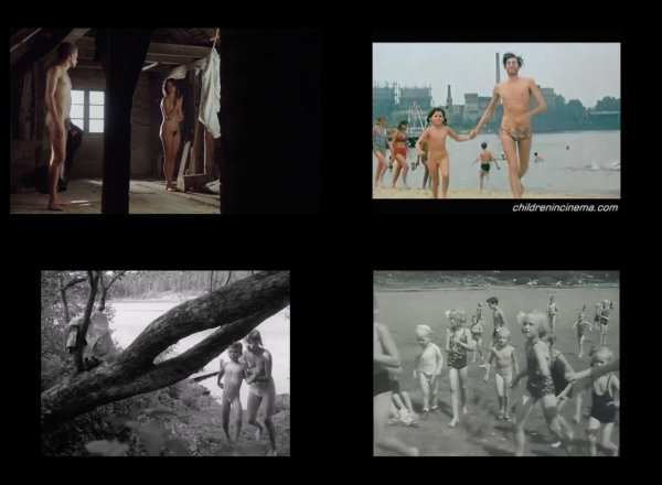Сollection of fragments #37 (young naturism, naked boys, naked girls)