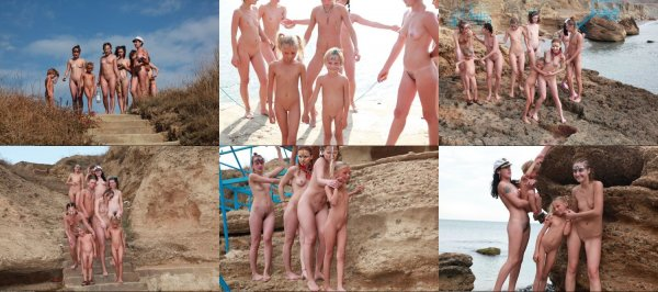 Rocky Beach 1 (family nudism, family naturism, young naturism, naked boys, naked girls)