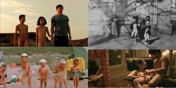 Сollection of fragments #40 (young naturism, naked boys, naked girls)