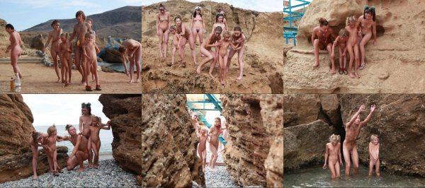 Rocky Beach 4 (family nudism, family naturism, young naturism, naked boys, naked girls)