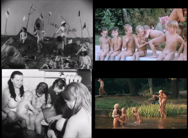 Сollection of fragments #42 (young naturism, naked boys, naked girls)