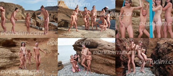 Rocky Beach 5 (family nudism, family naturism, young naturism, naked boys, naked girls)