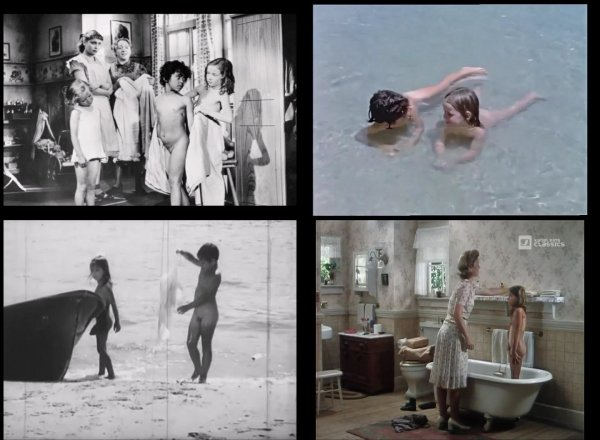 Сollection of fragments #48 (young naturism, naked boys, naked girls)