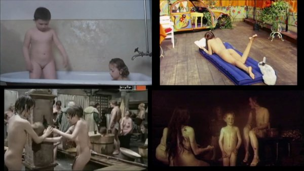 Сollection of fragments #51 (young naturism, naked boys, naked girls)